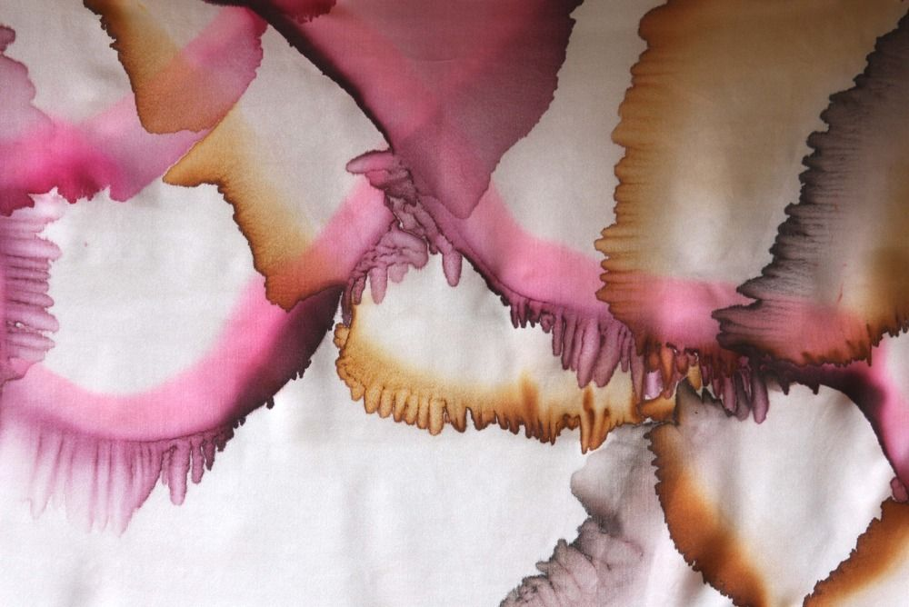 "Image of ""Landscape"" hand-painted silk scarf by Asta Masiulyte"