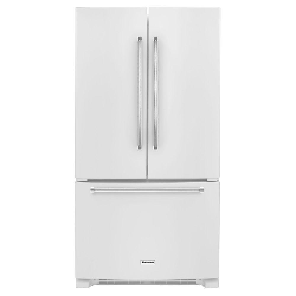 Kitchenaid Krff305ebs 25 2 Cu Ft French Door Refrigerator: KitchenAid 25.2 Cu. Ft. French Door Refrigerator In