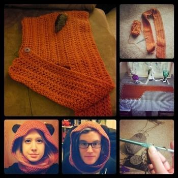 Yub Nub .  Make a character hat by yarncrafting and crocheting with crochet. Ewok Scoodie