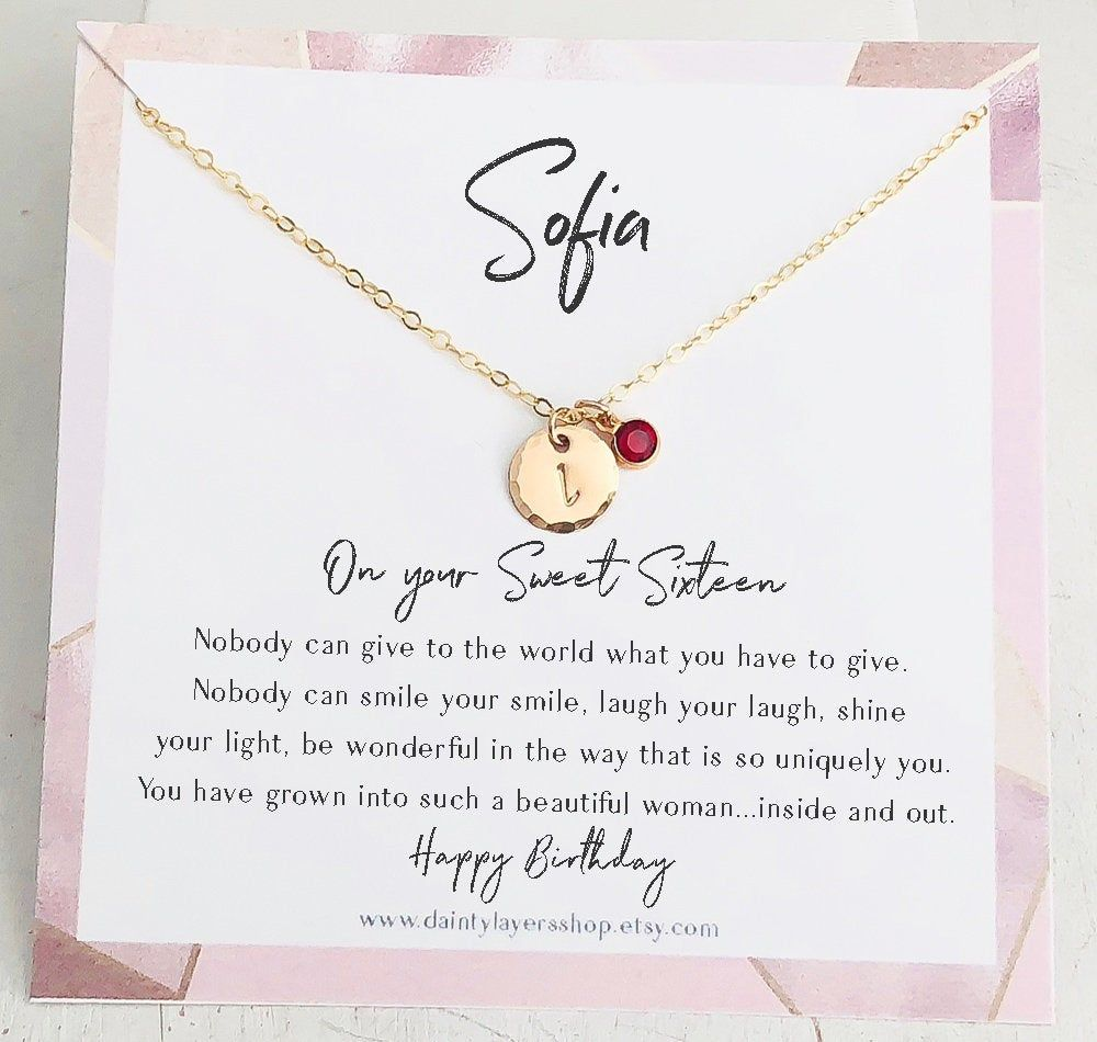 Sweet 16 Gift necklace Sweet Sixteen 16th Birthday