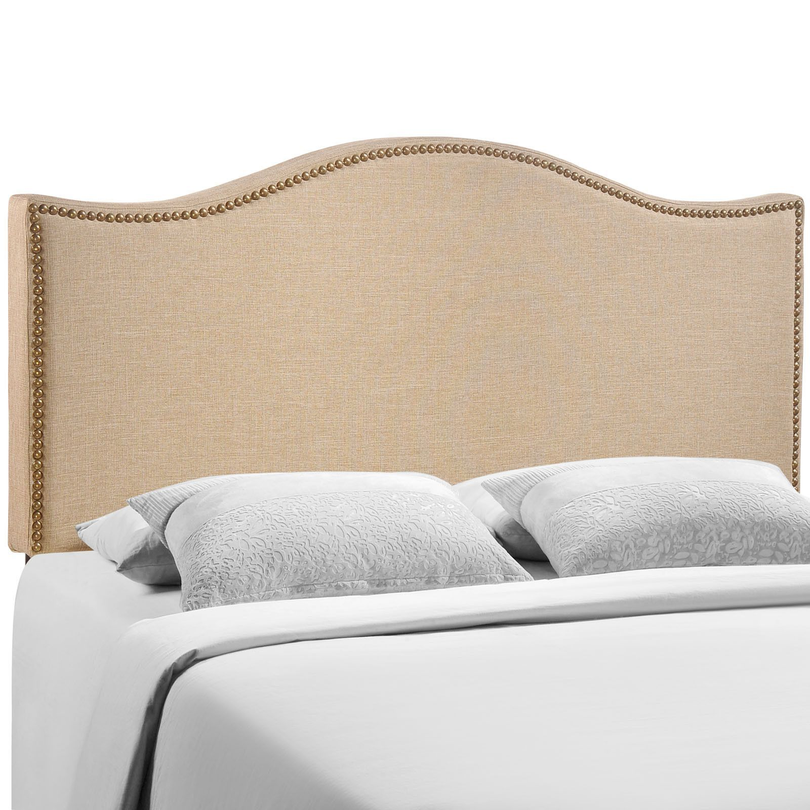 Buy Curl Queen Nailhead Upholstered Headboard at ModelDeco for only ...