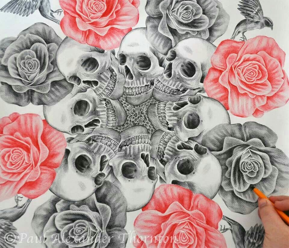 Skull, Skull Art, Flower Skull