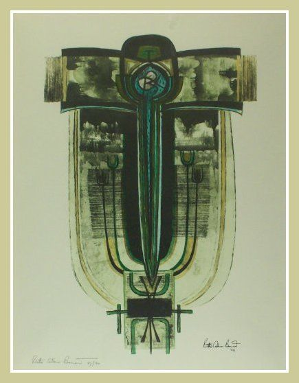 Bettie Cilliers Barnard Abstract Cross III