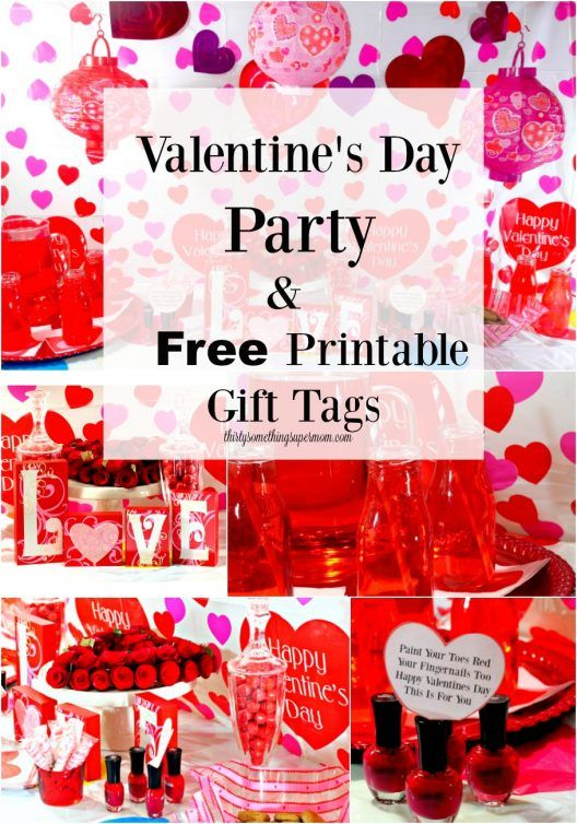 valentineu0027s day party ideas and free valentineu0027s day printable valentines day tags
