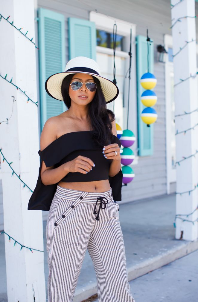 Image result for Off the Shoulder Top and Beach Pants