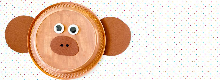 Monkey paper Plate Craft perfect for the safari rainforest and zoo weeks! & Monkey paper Plate Craft perfect for the safari rainforest and zoo ...