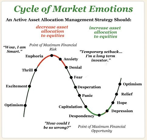 Cycle of market emotions FTD - Financial Freedom Corp - investment analysis
