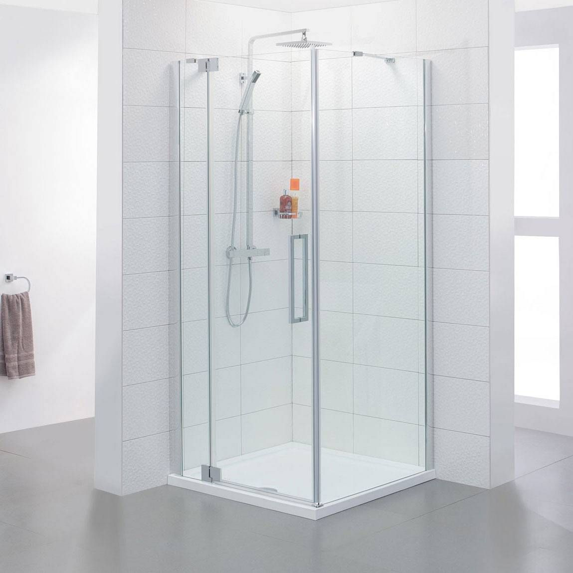 V8+ Frameless Hinged Shower Enclosure 800 LH | En Suite fixtures ...