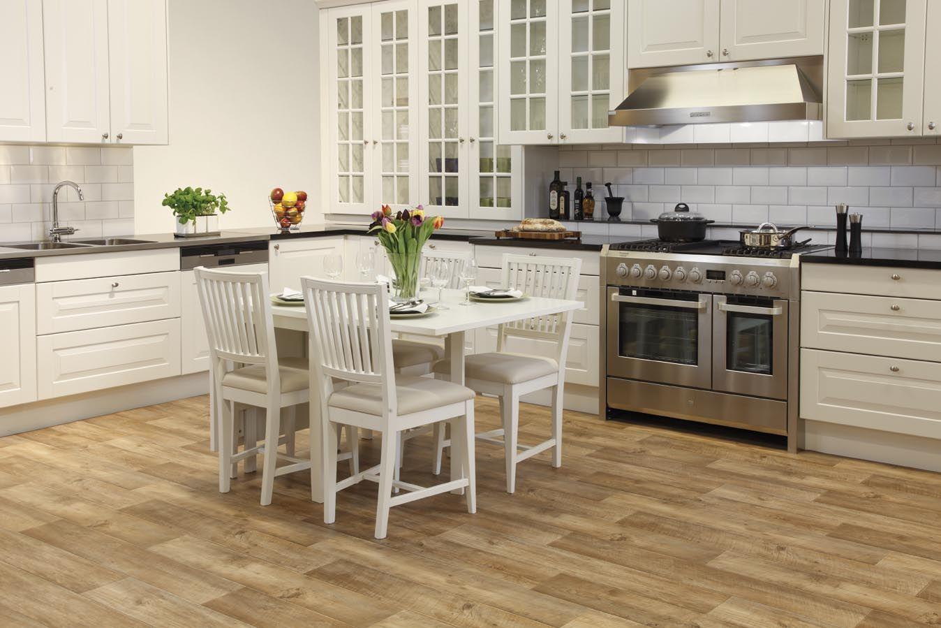 best flooring for kitchen Tarkett Authentic Beige vinyl