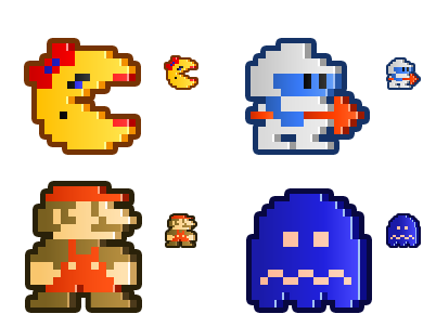 Mrs Pacman Dig Dug Mario Ghost Game Inspiration Arcade Video Game Characters