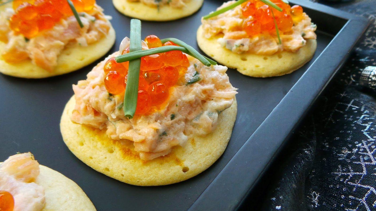 My Little Créa: Toasts tout saumon sur blinis maison (recette de blinis de Fred Chesneau)