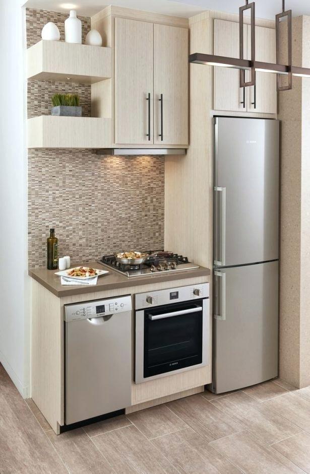 Kitchen Apartment Size Stove Dishwasher Fridge Black Appliances Small Compact Apartments Simple Kitchen Design Kitchen Design Small Space Kitchen Remodel Small