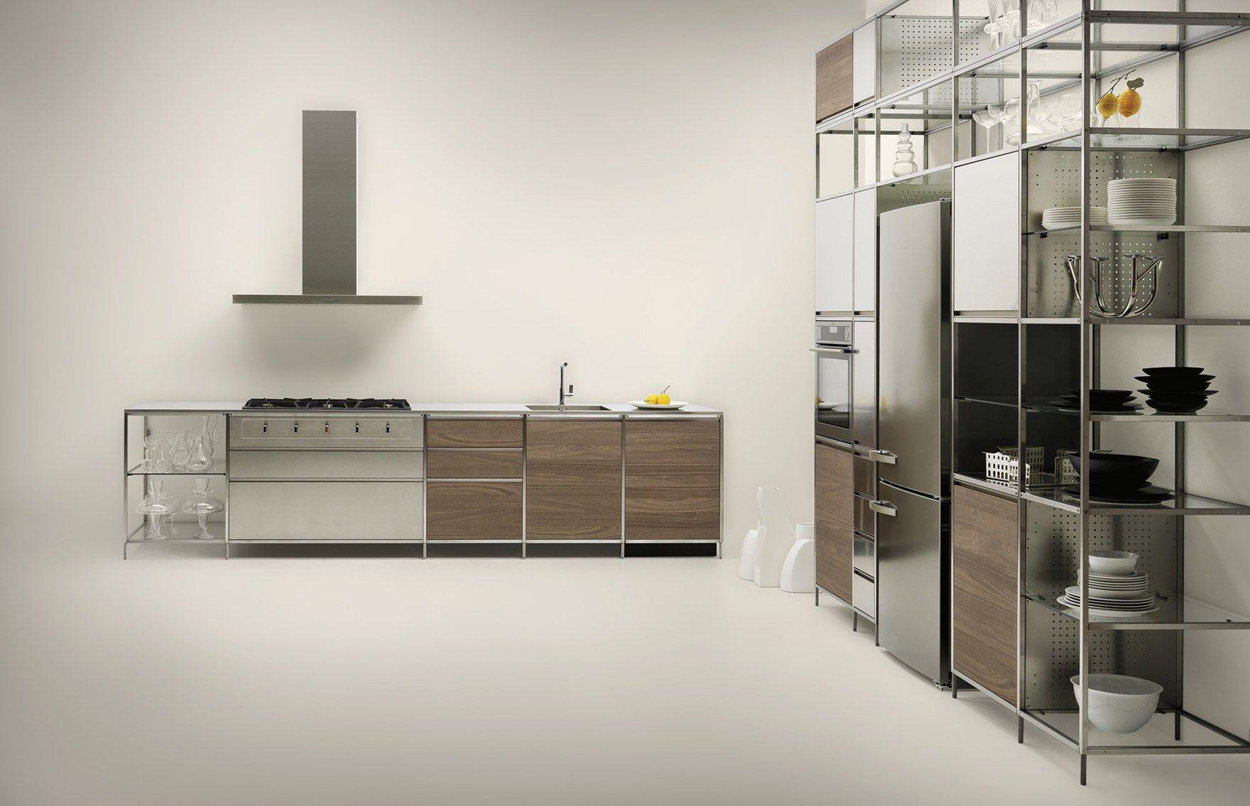Meccanica By Valcucine Modular Kitchen With A Lightweight Frame Framed Kitchen Cabinets Kitchen Units Modern Kitchen