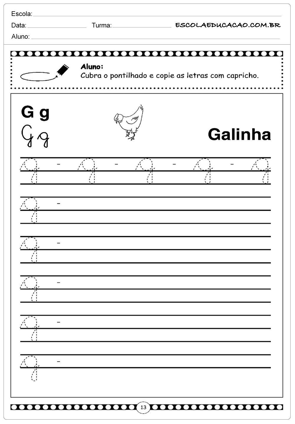 Atividades Letra G Minuscula Atividades Letra E Alfabeto