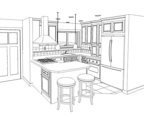 kitchen pencil sketches - google search ... how to draw kitchen diagram