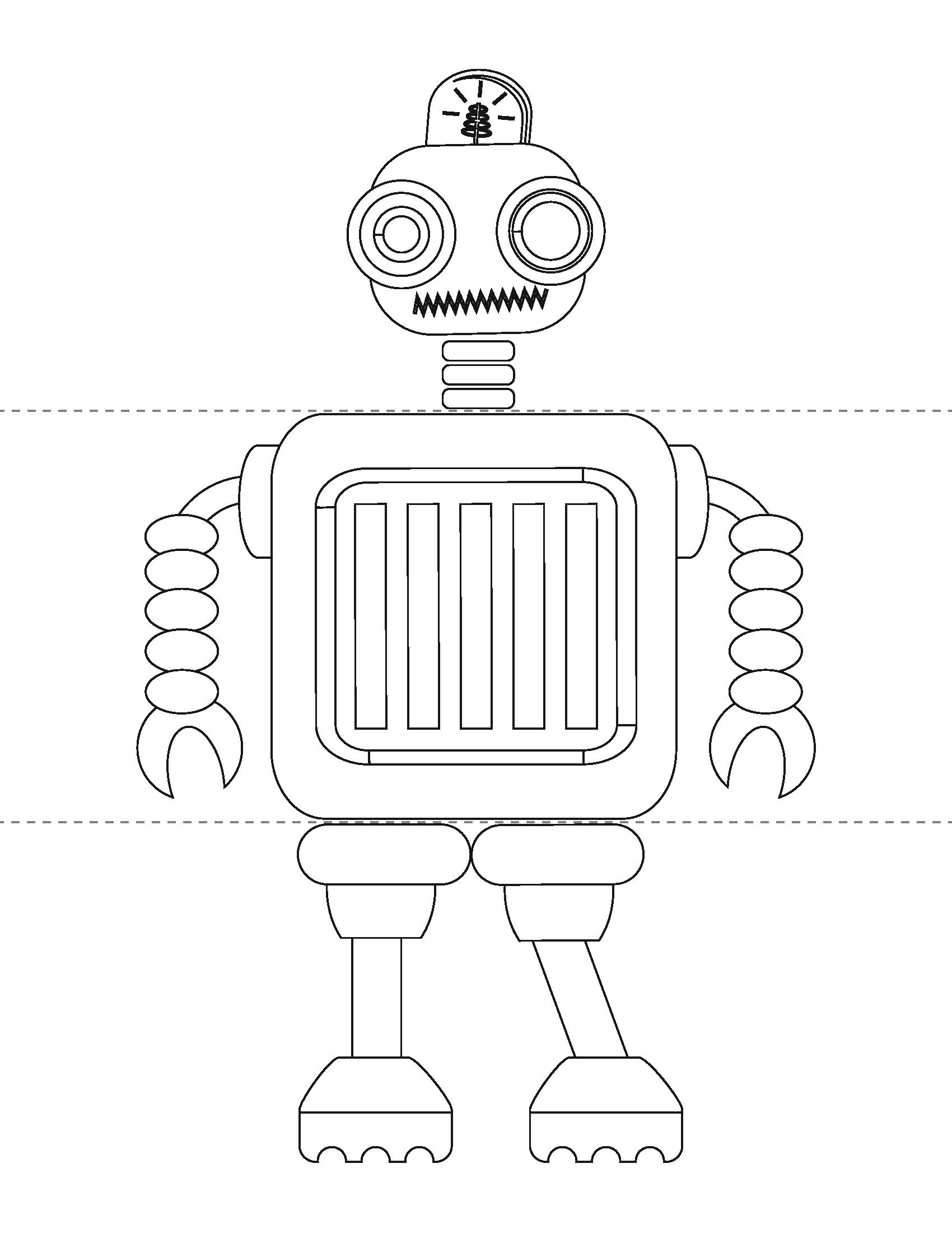 картинка робот для вырезания серию наклеек