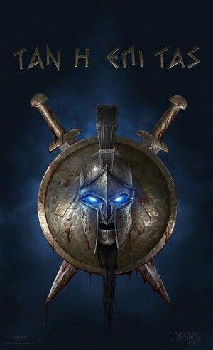 Ghost Spartan Escudo Espartano Guerrero Griego Tatuaje Espartano