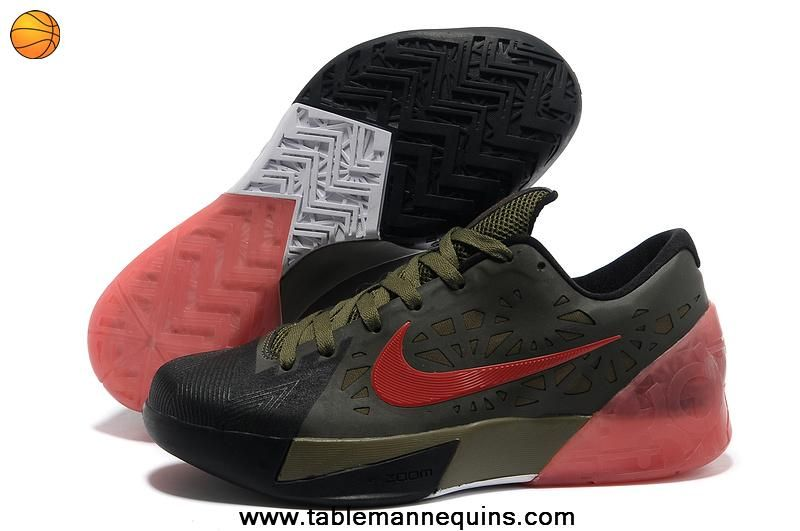 Nike Kd Trey 5 Kevin Durant Shoes Army Green Sport Red Pink TopDeals
