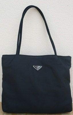 caa8237ca773 Sale 25 off Vintage 90 s Prada Nylon Tote Bag Black by SoSubish