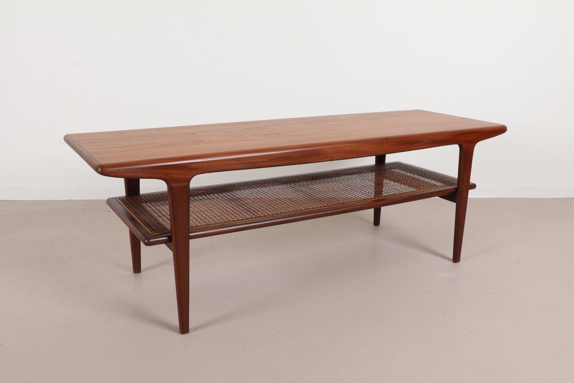 Retro Scandinavian Teak Coffee Side Table Vintage Mid Century Modern Danish Design Hvidt Style Mid Century Coffee Table Coffee Table Modern Patio Furniture [ 768 x 1024 Pixel ]