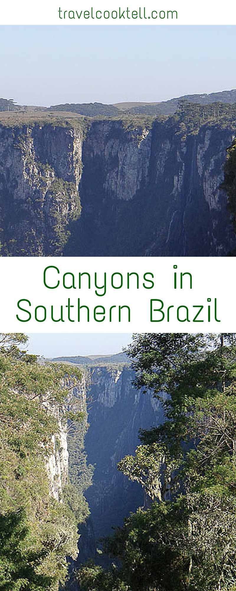 Canyons in Southern Brazil