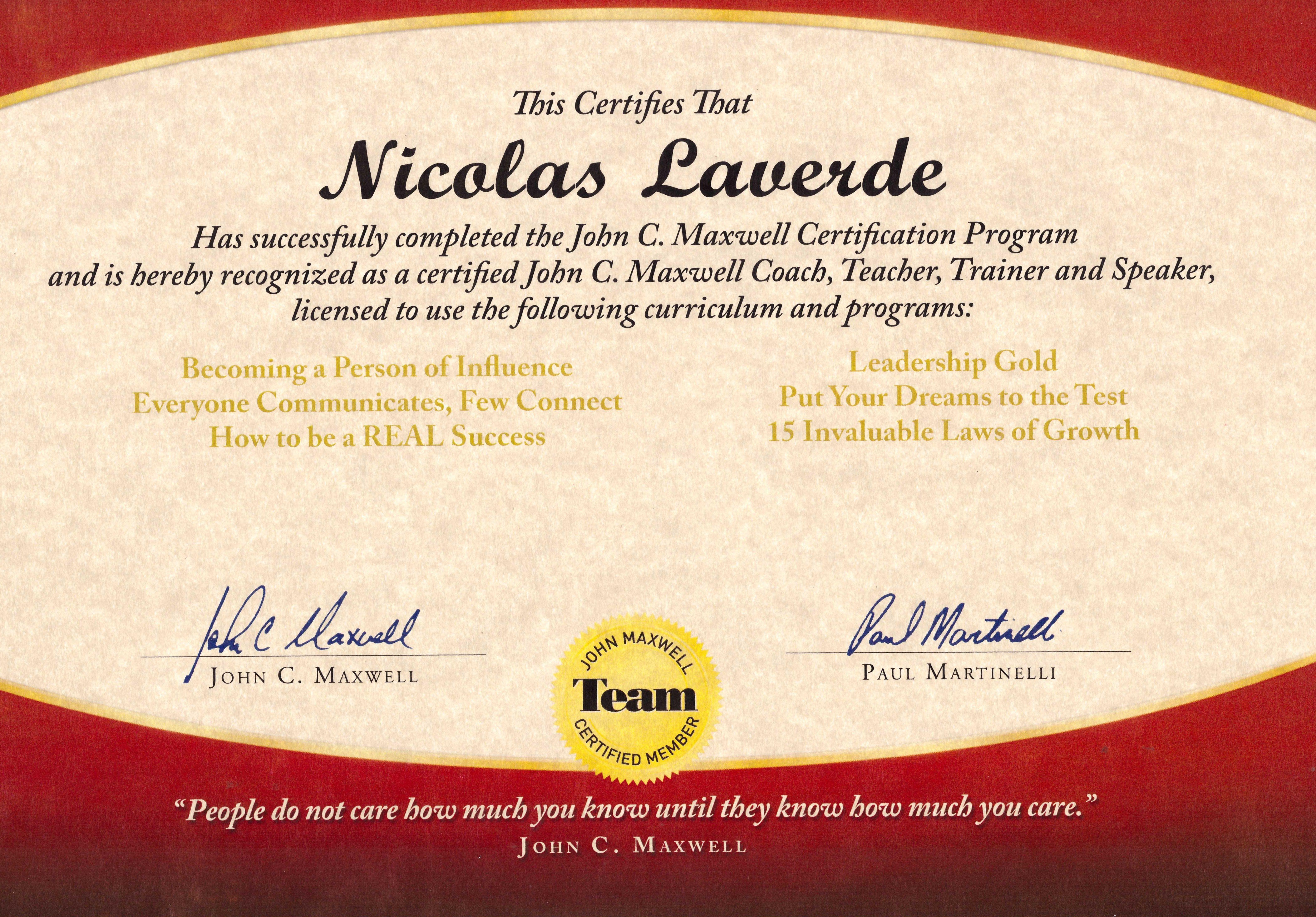 Certificado como coach trainer y speaker con john maxwell certificado como coach trainer y speaker con john maxwell jmteam jmtdna xflitez Images