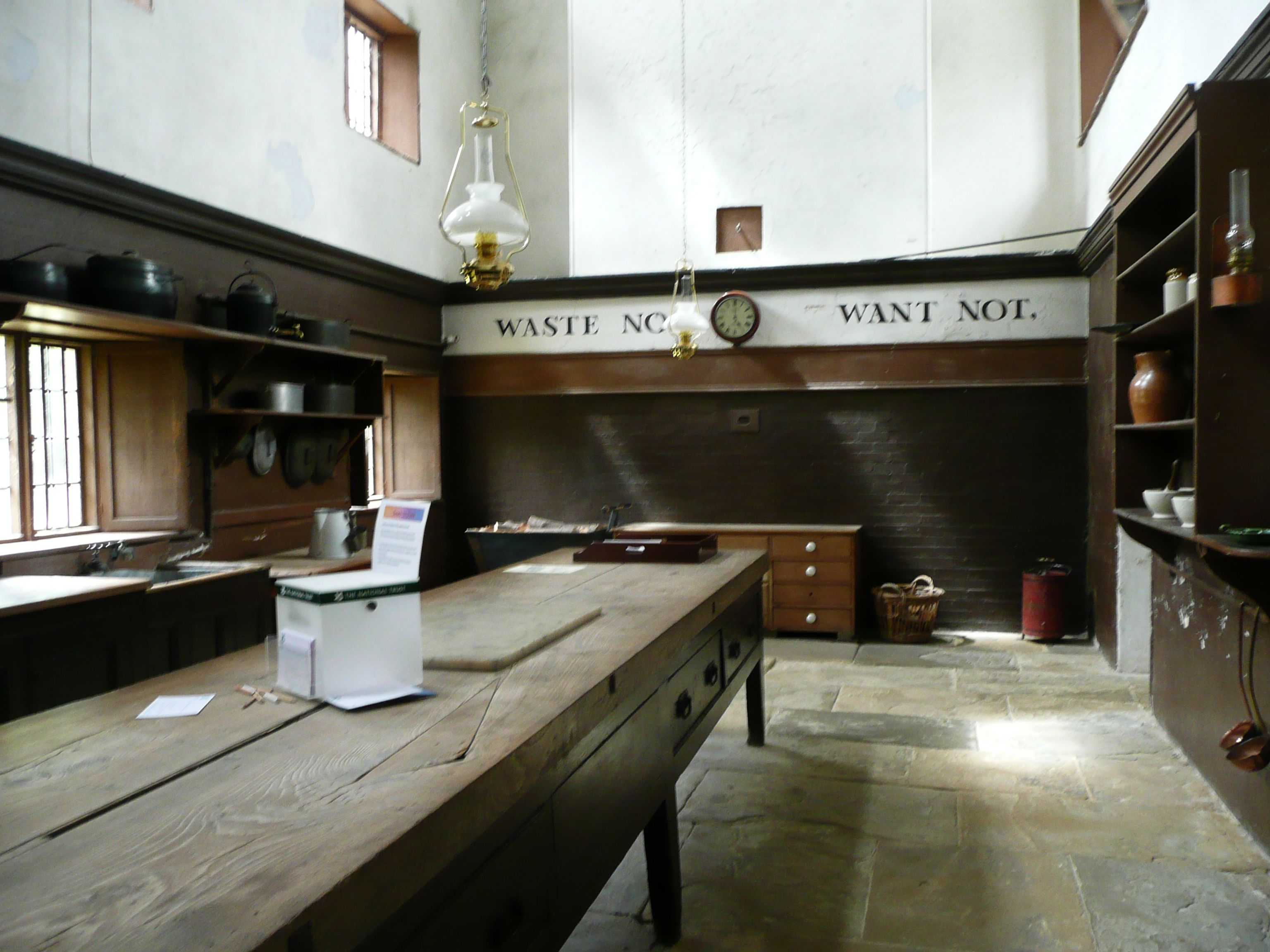 Farmhouse Kitchen Tables Uk The Old Kitchen At Belton House Lincolnshire Uk Showing An