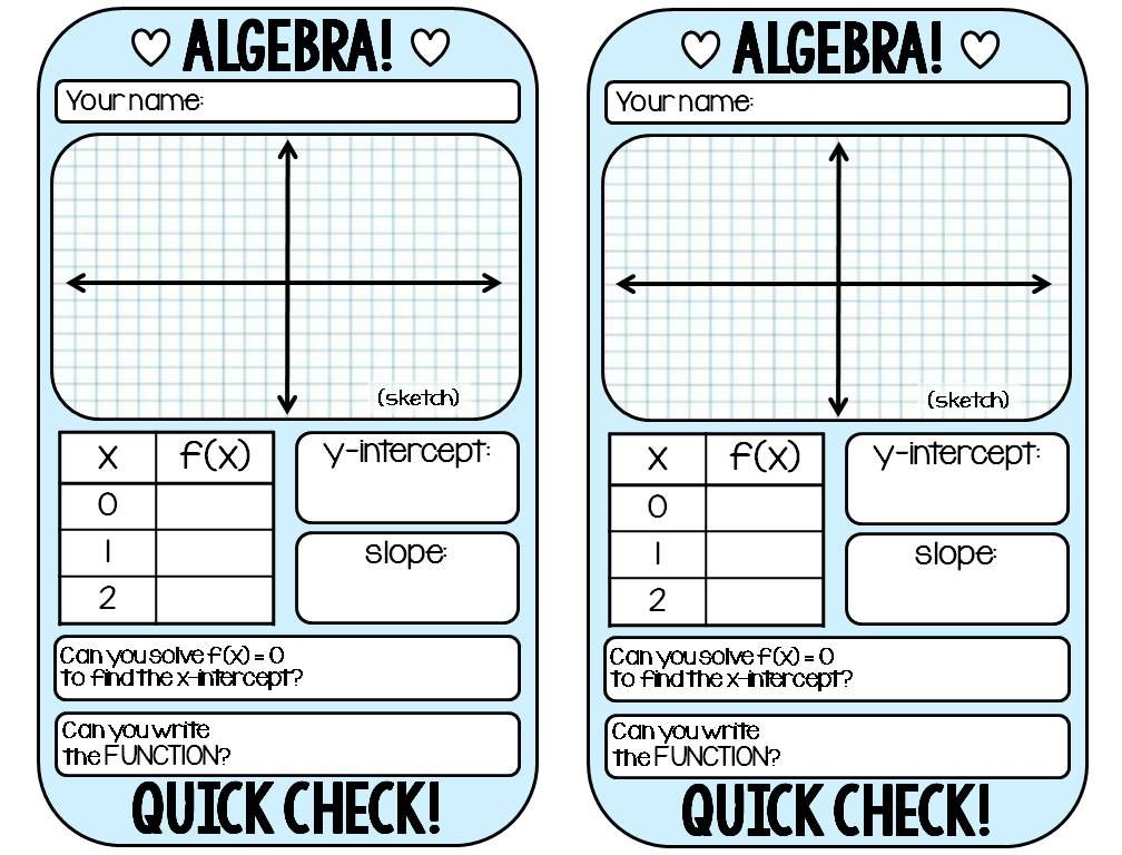Algebra 1 warm-up template | Algebra, Math and Free
