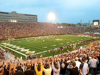 Mizzou football at Faurot Field. University of Missouri. Go Tigers!