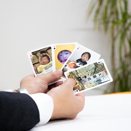 トランプ 写真で作るオリジナルグッズ Chocotto Choice トランプ 企業ロゴ 作る