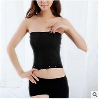 b3286412e75 Wish | Women Girl Sexy Short Cotton Strapless solid color Bandeau Stretch Boob  Tube Top tank top