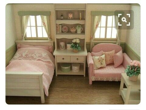 Girls Bedroom In Miniature