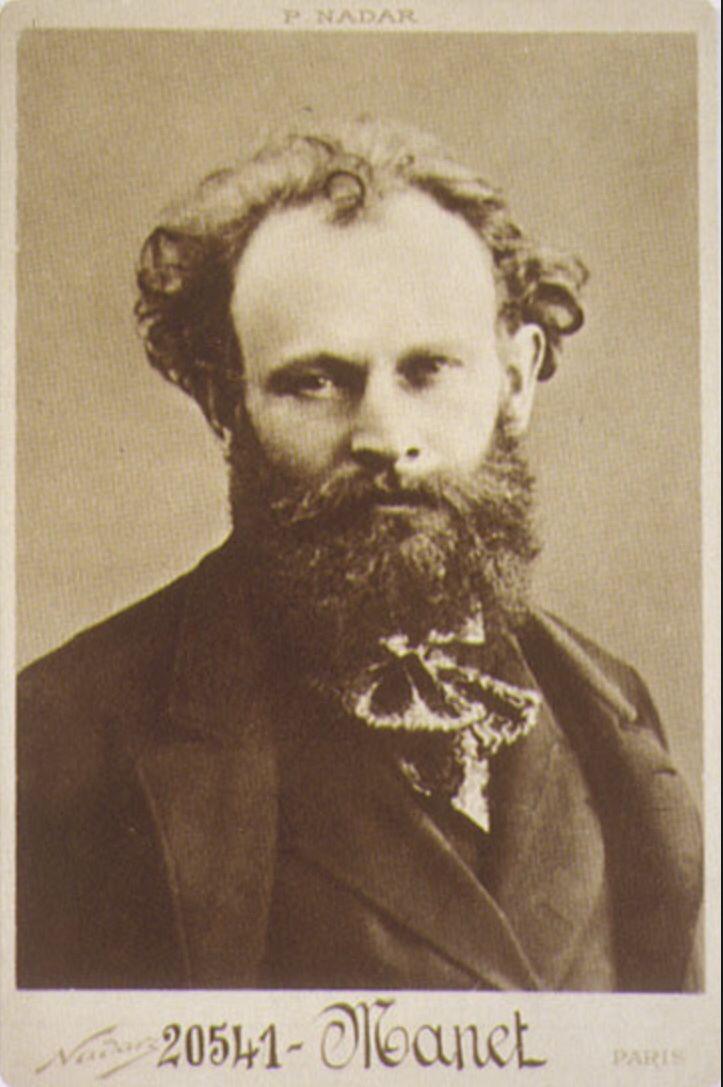 Hijo de un importante funcionario del ministerio de Justicia, Édouard Manet fue un mediocre estudiante que lo único que le interesaba era dibujar. Su padre se resistía a una carrera artística por eso Manet trato de ingresar a la Escuela Naval pero tras fallar dos veces,sus padre accedió a financiar sus estudios artísticos en 1850.