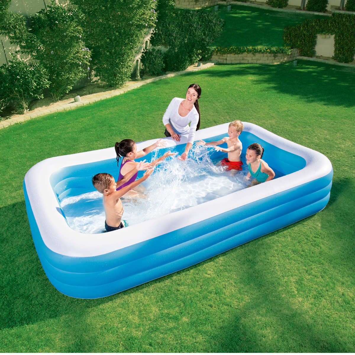 Inflatable Kiddie Pool 79x 59 x 20 Family Swimming for Adults Toddler Outdoor Play Summer Party