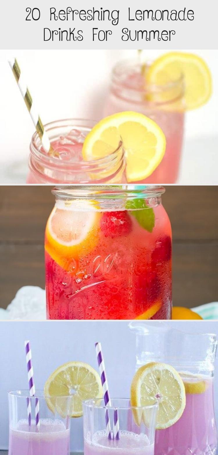 20 Refreshing Lemonade Drinks For Summer #bestlemonade Recipe: 20 Refreshing Lemonade Drinks For Summer | Food - Olip Life #FoodandDrinkParty #bestlemonade