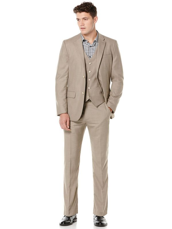 Natural Linen Two Tone Twill Suit