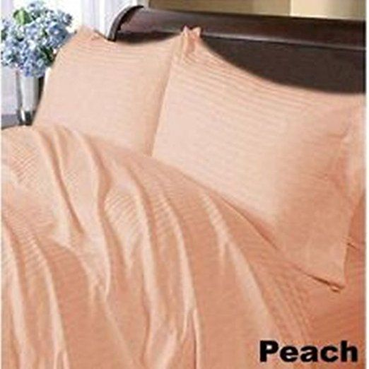 1000 TC Egyptian Cotton Peach Solid Extra Deep Pocket Bedding Items