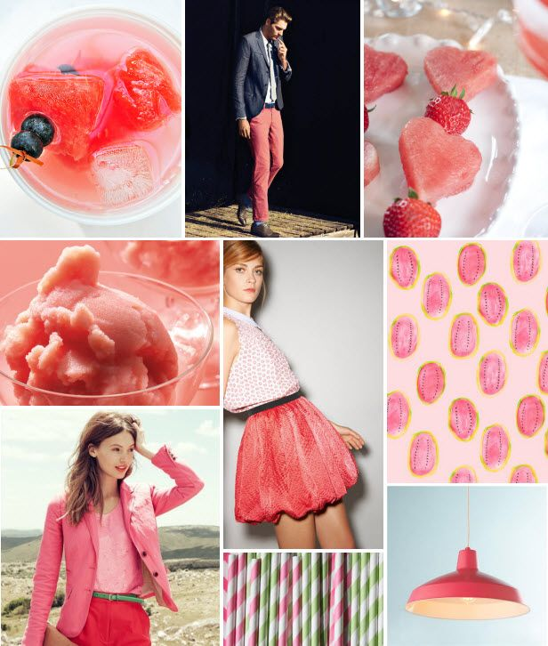 Watermelon Mood Board>> http://blog.hgtv.com/design/2013/07/08/mood-board-monday-watermelon-pink/?soc=pinterest
