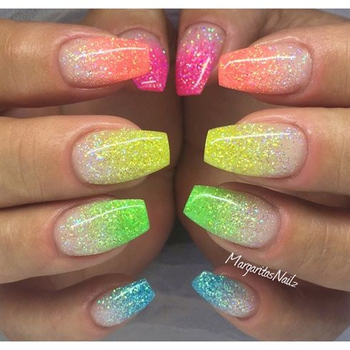 Colorful Ombré Nails by MargaritasNailz from Nail Art Gallery - Colorful Ombré Nails By MargaritasNailz From Nail Art Gallery