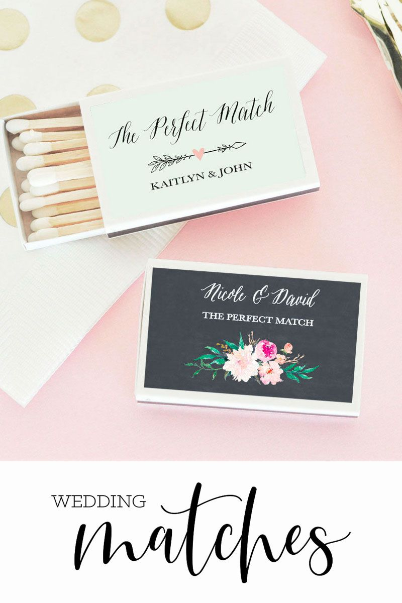 Wedding Matches Floral Set Of 50 Wedding Matches Wedding Favor Sayings Personalized Wedding Matches