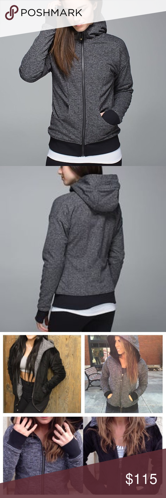 🎀 Lululemon Embrace Hoodie *Luscious Gorgeous, like new embrace hoodie, reversible, coco pique/black sherpa. Pockets and logo on both sides. Also has thumbholes. Super warm and cozy. lululemon athletica Jackets & Coats