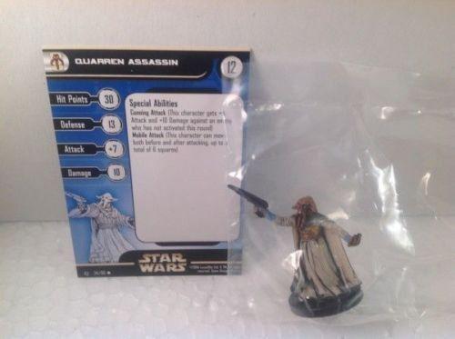 6X Star Wars Rebel Storm 54/60 Quarren Assassin (U) Miniatures