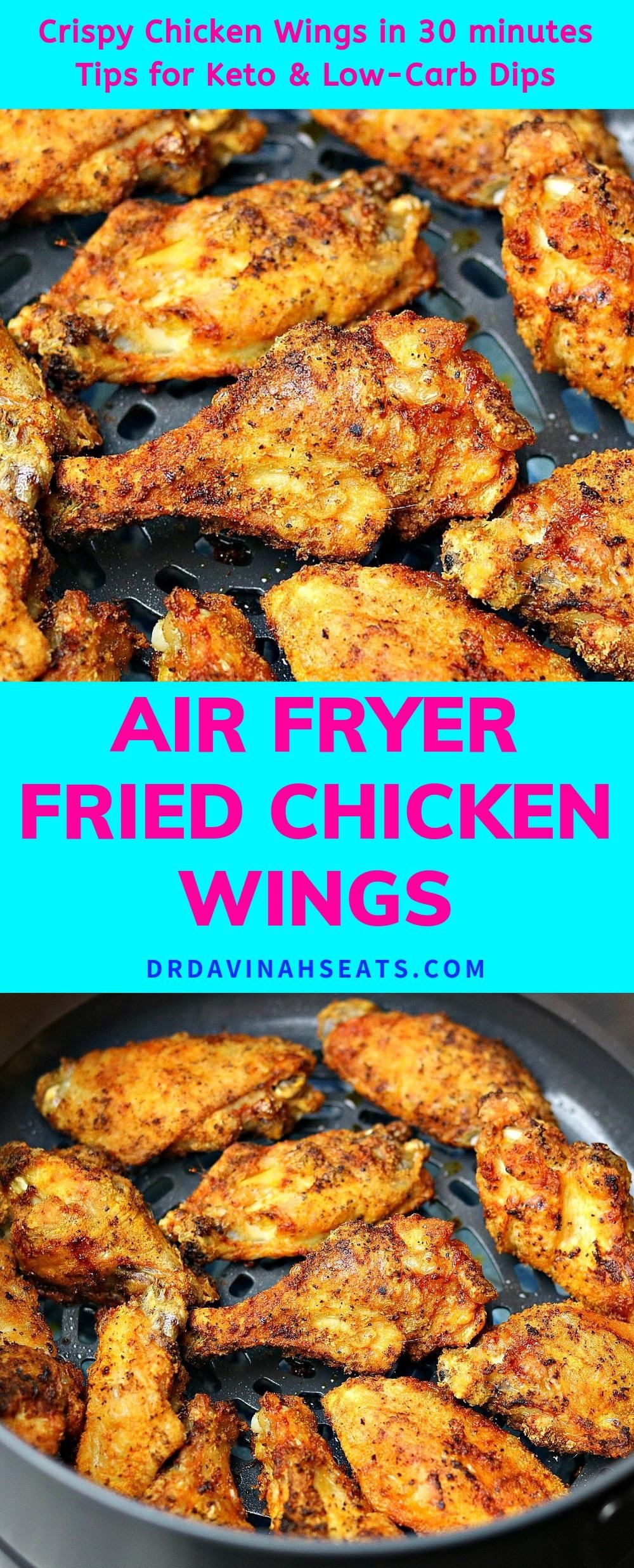 Make crispy air fryer chicken wings in 30 minutes without