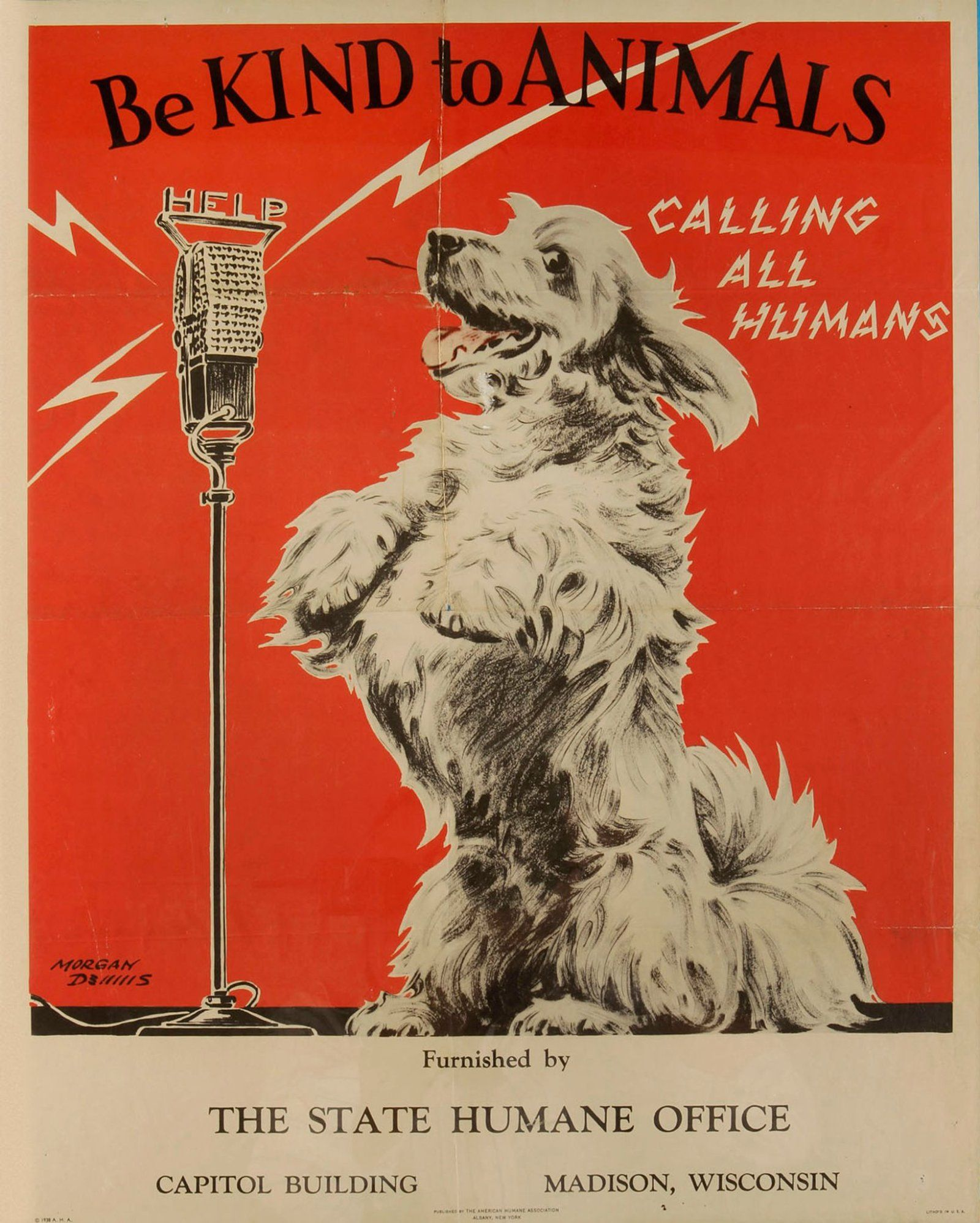 Vintage Metal Sign - Retro Advertising - Be Kind To Animals