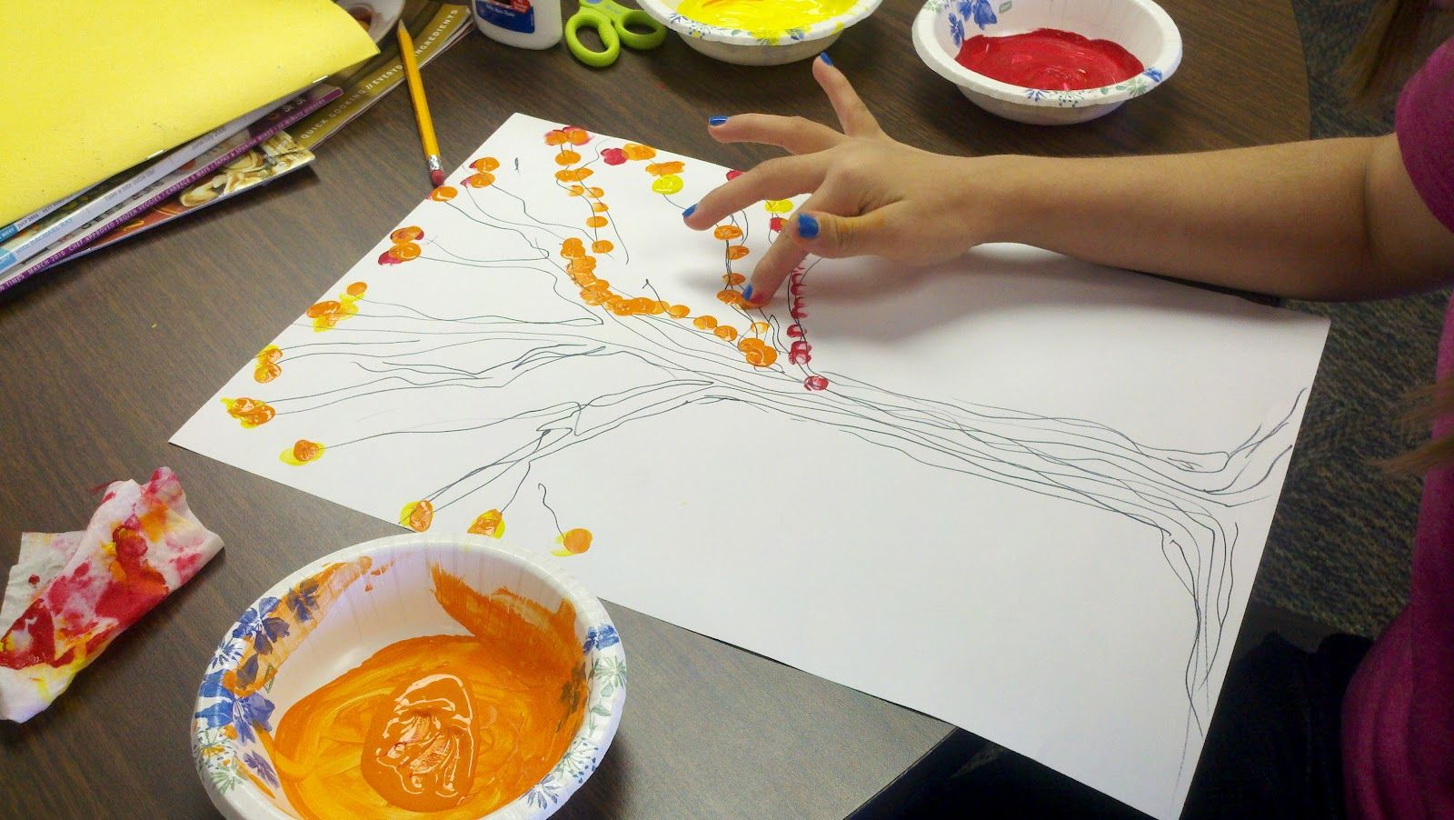 Fall Finger Painting