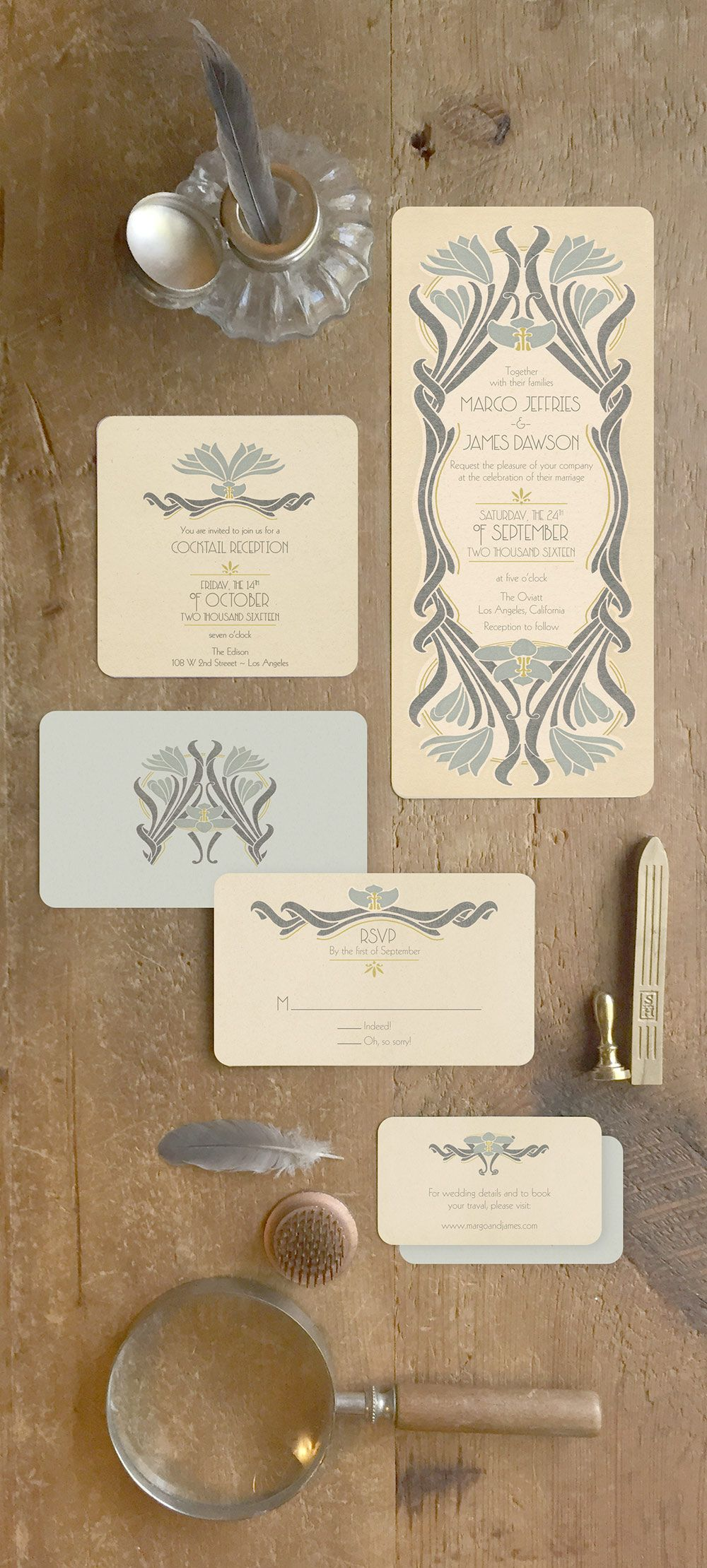 INTAGE WEDDING INVITATIONS What a great way