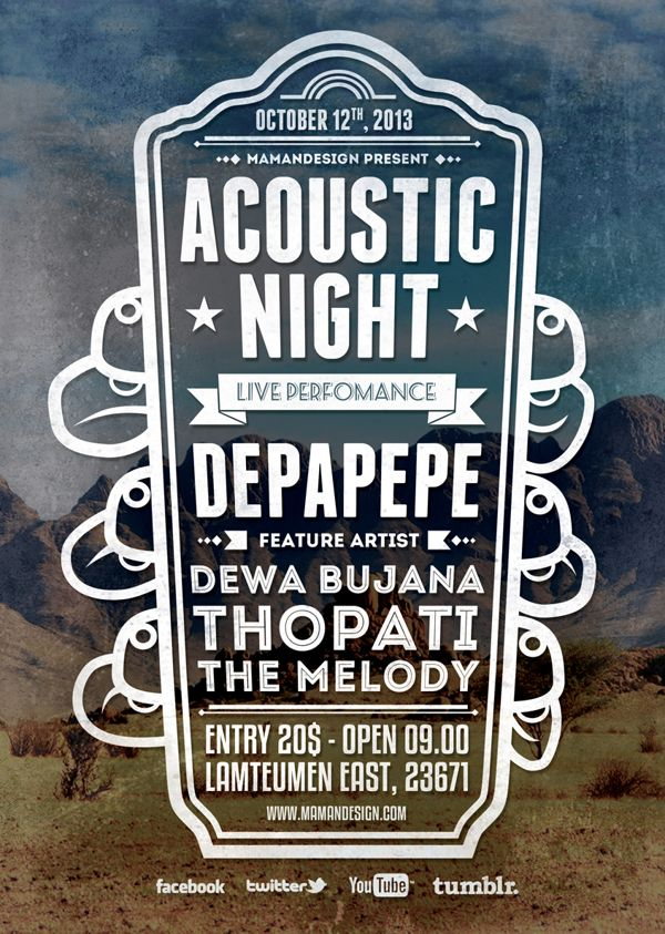 Acoustic Typography Flyer/Poster Vol2 TYPOGRAPHY DESIGN