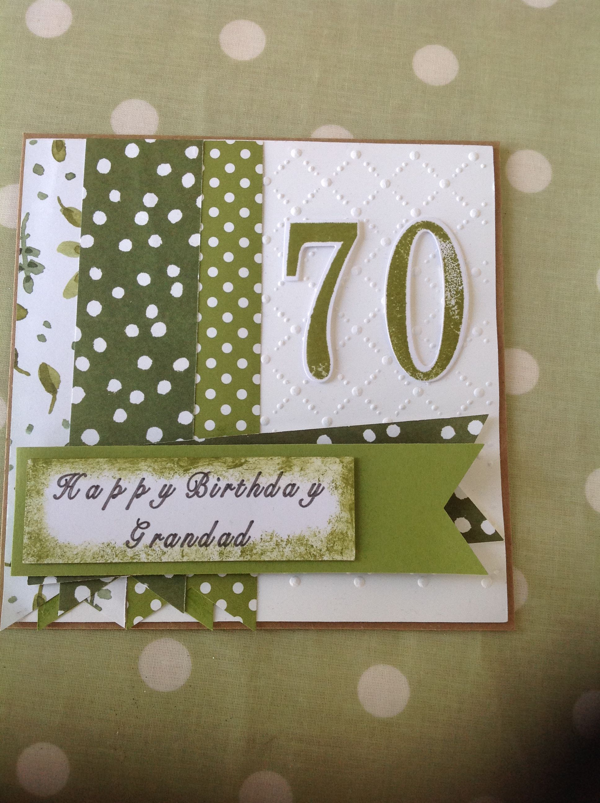 Stampin Up Number Of Years Stamp Die Set English Garden Dsp 70th Birthday Card 70th Birthday Card Birthday Cards Birthday Cards For Men