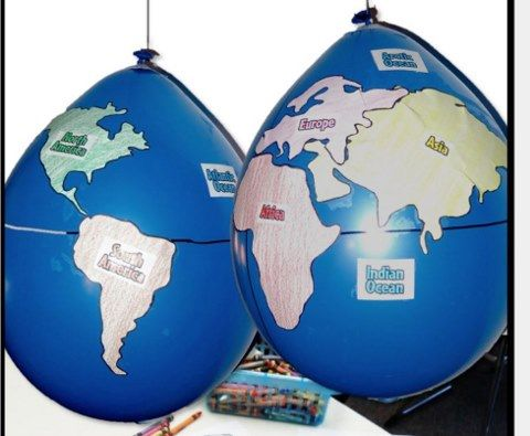 214 Construct a globe depicting the four hemispheres seven