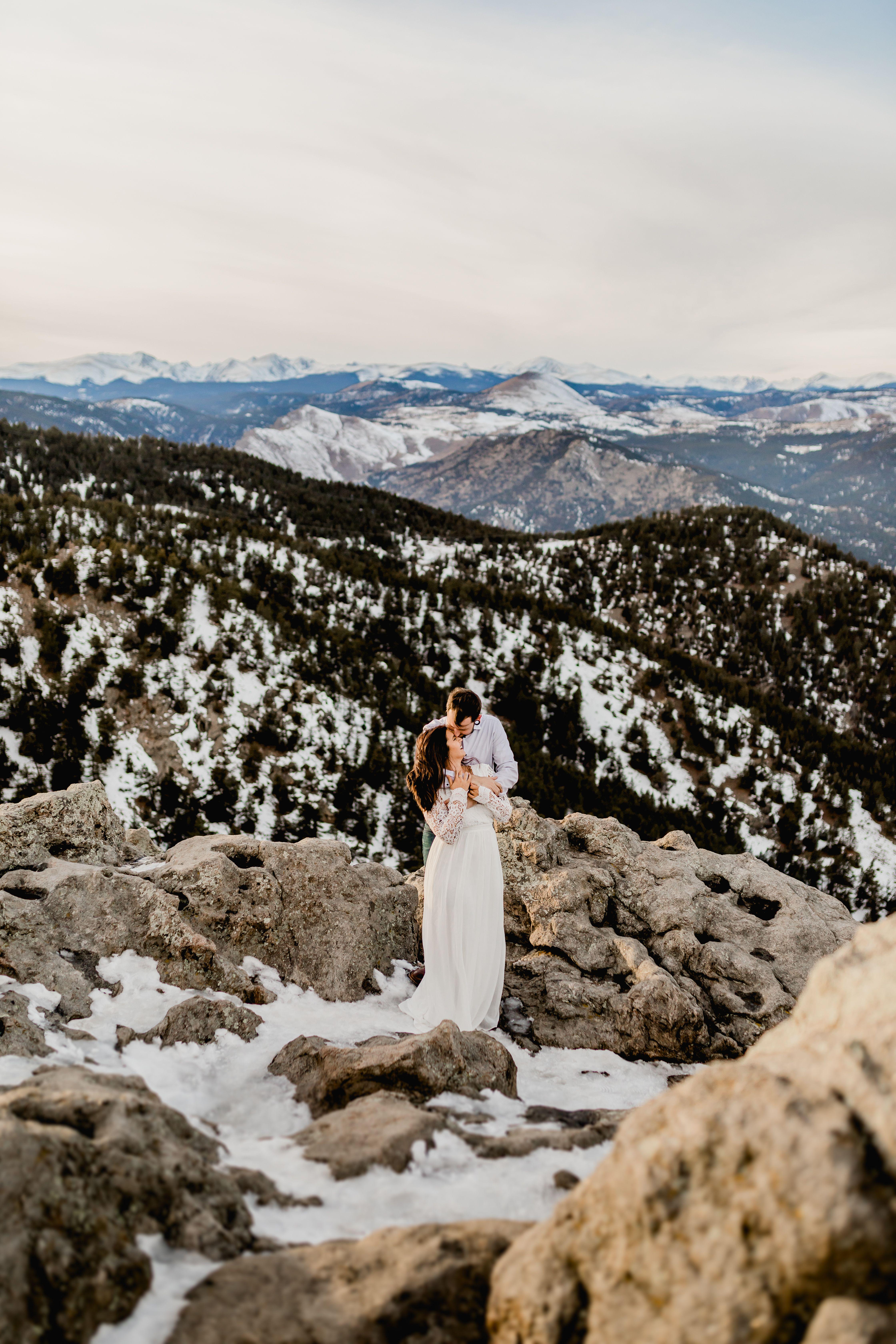 mountain wedding in colorado/ mountain elopement